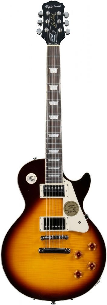 epiphone les paul standard plain top electric guitar ebony № 277731
